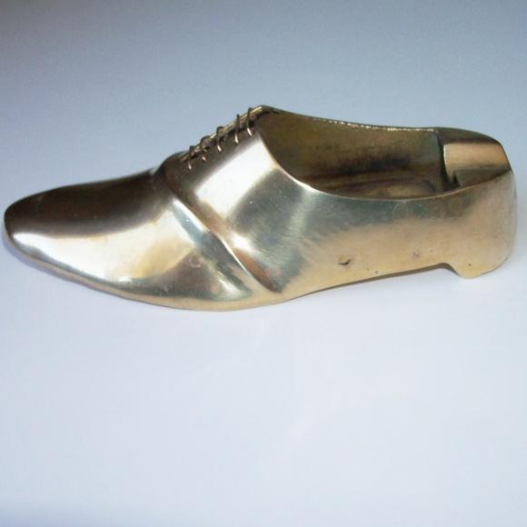 Other - Vintage brass shoe ash tray (#EV647)